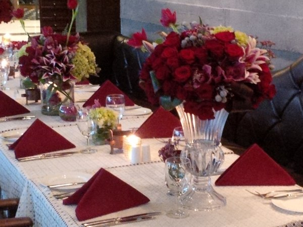 Table Setting at Mrs. Mieno's Event