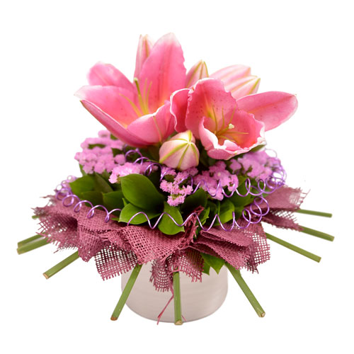Blushing Bliss Eclectic Arrangement from Clea Flower Boutique