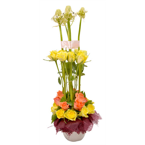 Sunshine Blossom Eclectic Arrangement from Clea Flower Boutique