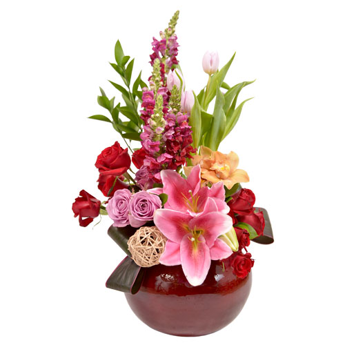 Vivid Recollection Eclectic Arrangement from Clea Flower Boutique