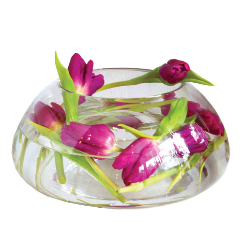 Tulip In Luna Bowl Minimalist Arrangement from Clea Flower Boutique
