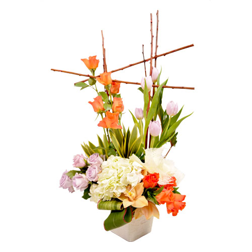 Rosewood Bamboo Eclectic Arrangement from Clea Flower Boutique