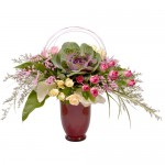 Cabbage Roses Eclectic Arrangement from Clea Flower Boutique